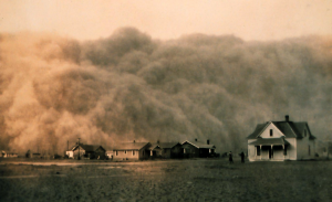 Sandstrom in texas during the dust bowl
