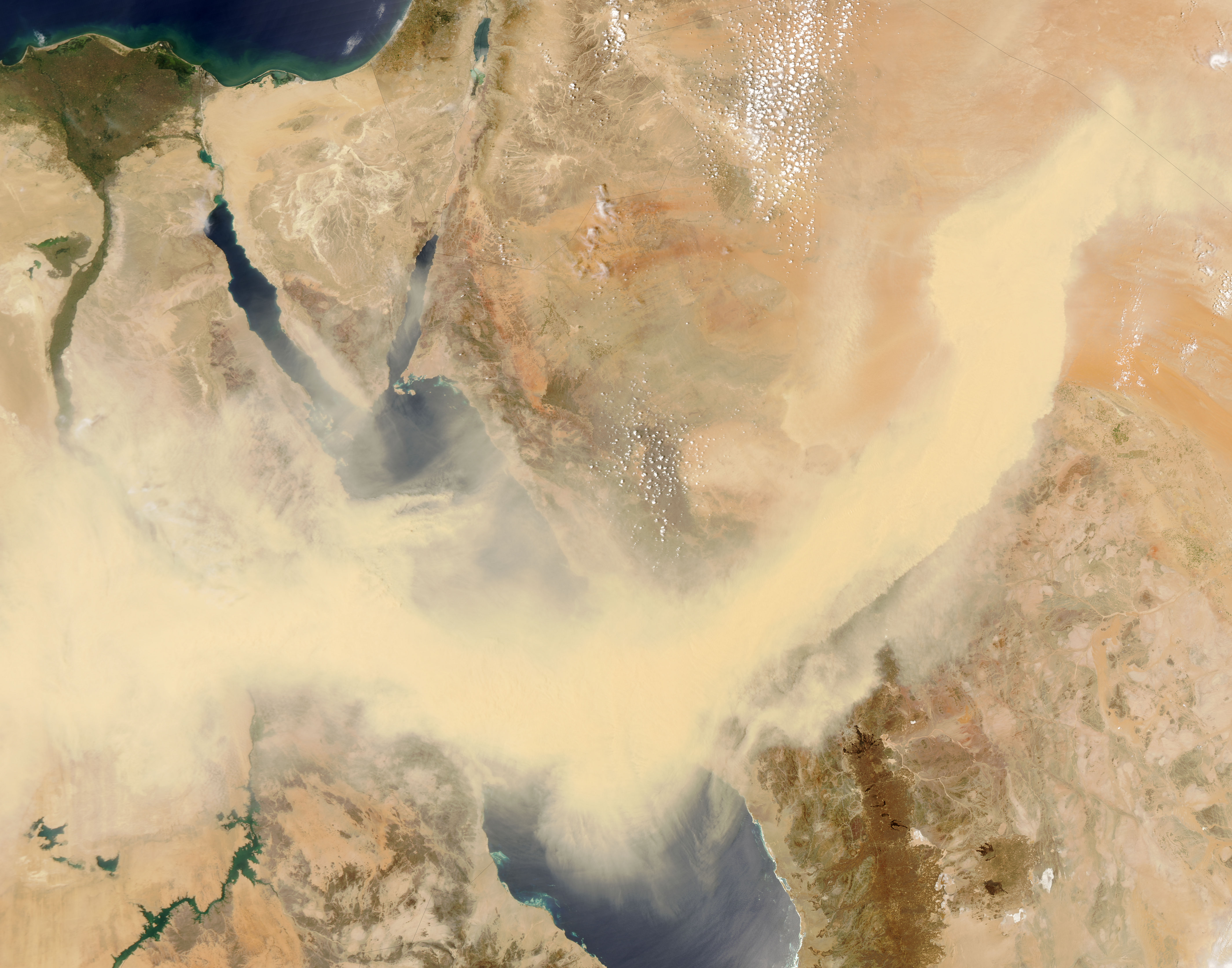 Sandstorm satellite image