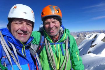 Mick and Paul on the summit