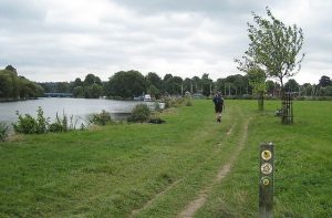 Thames path Image from Walkies