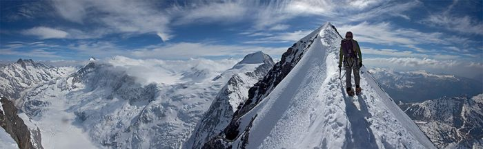 The summit of the Eiger