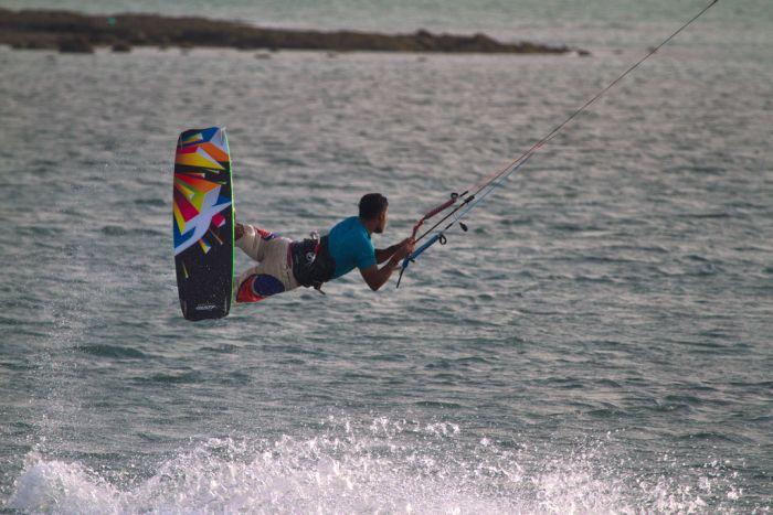 Kitesurfing, Masirah Island, Oman