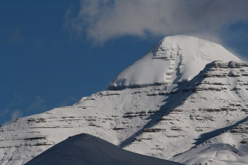 The unclimbed mountain of Mount Kailash