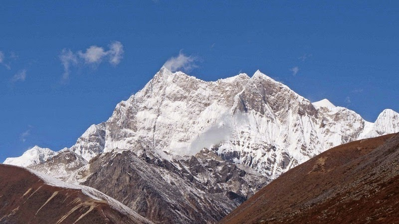 The unclimbed mountain of Gangkhar Puensum in Bhutan