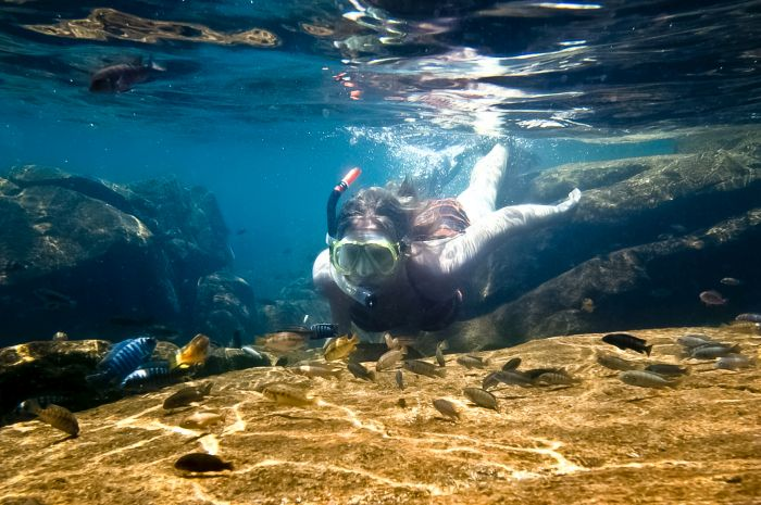 Diving, Lake Malawi, Malawi