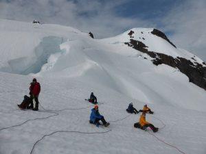 Learning mountain skills