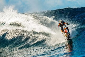 Motorbike stunt rider Robbie Maddison, Tahiti