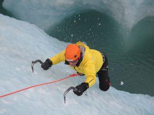 Ice climbing, Sólheimajökull glacier, Iceland