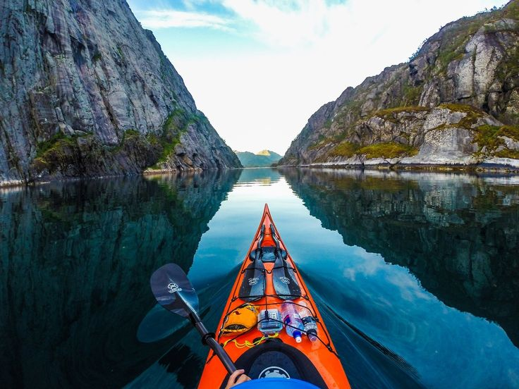 Kayaking Naeroyfjord, Norway
