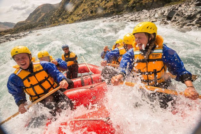 White water rafting, Rangitata Gorge, New Zealand