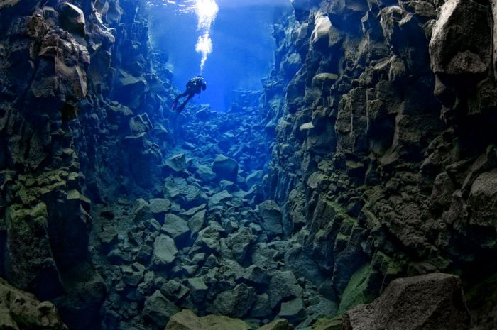 Diving, Silfra fissure, Iceland