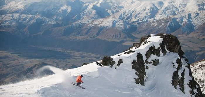 Skiing, Remarkables mountain range, New Zealand