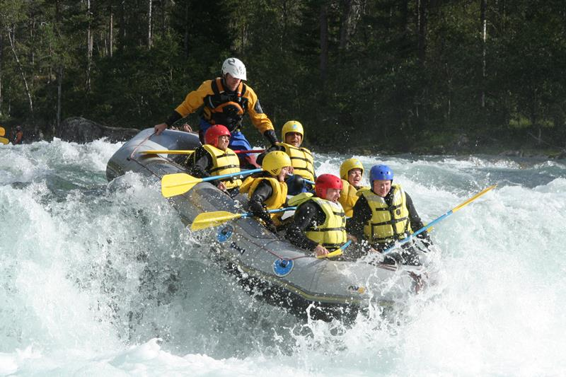 White water rafting, Voss, Norway