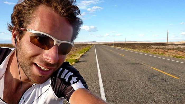 Mark Beaumont in The Man Who Cycled the World