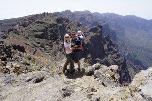 Scott in La Palma with his family
