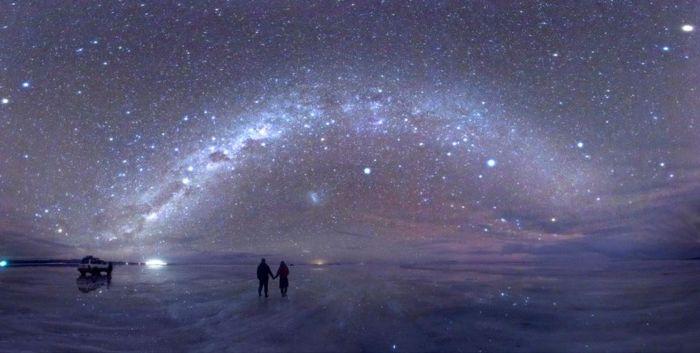 Salt Flats at night, Bolivia
