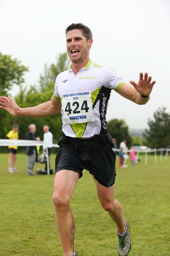 Scott Winning the 3 Forts off road Marathon for Team Ultra Splashmaps2