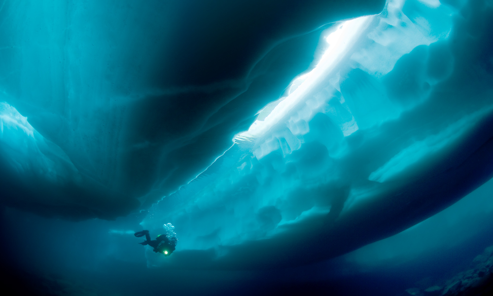 Diving under ice, Finland