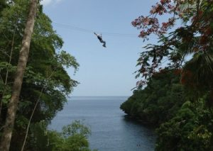Zip lining,Macqueripe Bay