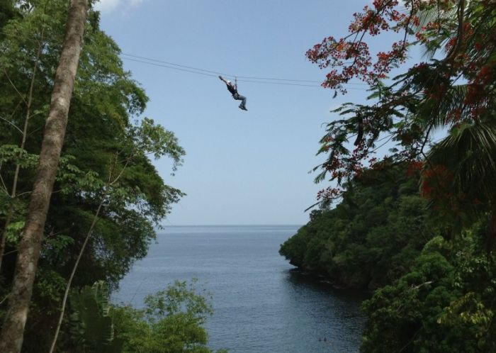 Zip lining,Macqueripe Bay