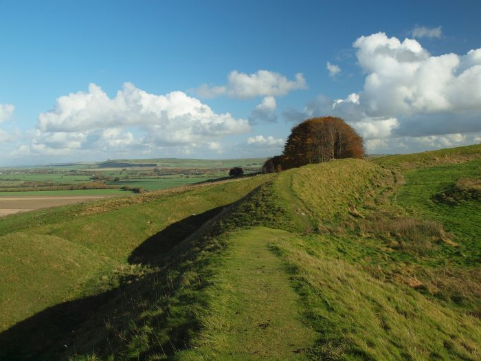 Barbury Castle, the start of the Great Stones Wasy