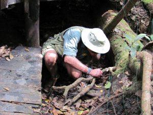 David Lemon drinking from the source of the Zambezi