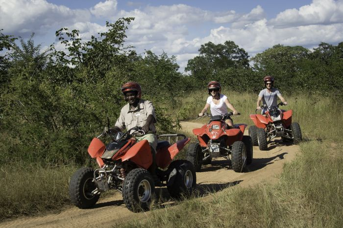Quad biking in Zambia