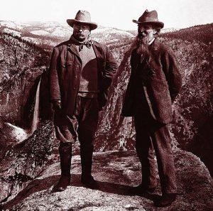 John Muir and Theodore Roosevelt in Yosemite