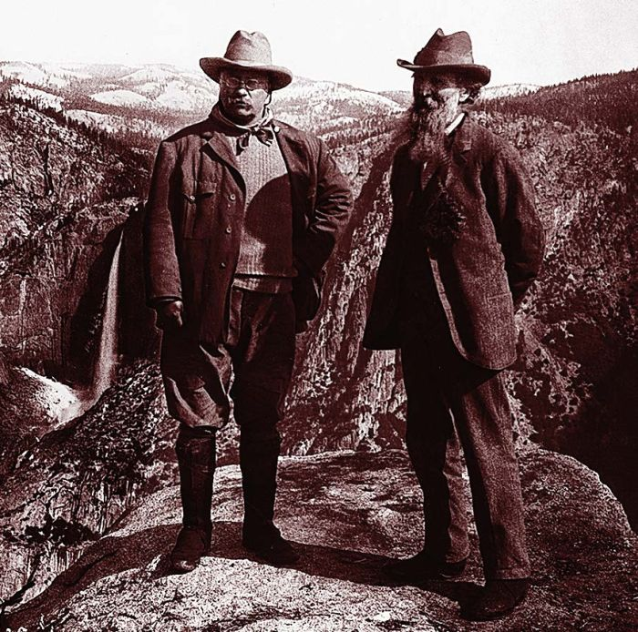 John Muir and Theodore Roosevelt in Yosemite