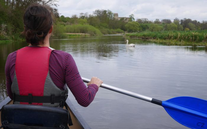 Canoeing in the River Nene