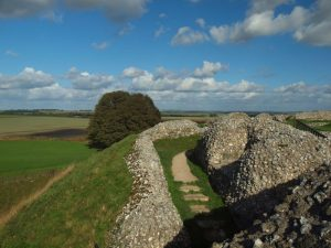 The former castle at Old Sarum