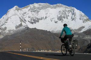 Riding past Peru's highest mountain on the Huascaran Circuit