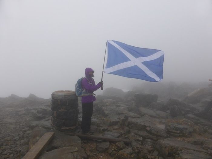 Robert at the summit of Ben Nevis