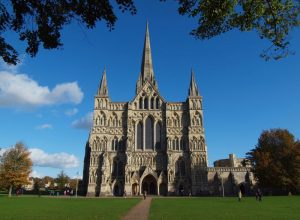 Salisbury Cathedral, the end pint of the Great Stones Way