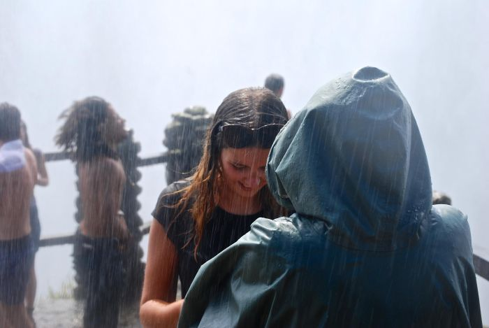 Wet walking in Victoria Falls