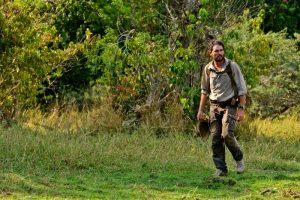 Lev walking in Uganda