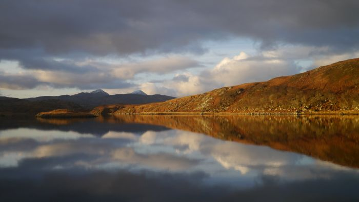 Loch Tarbert at dawn, Jura, The Hebrides