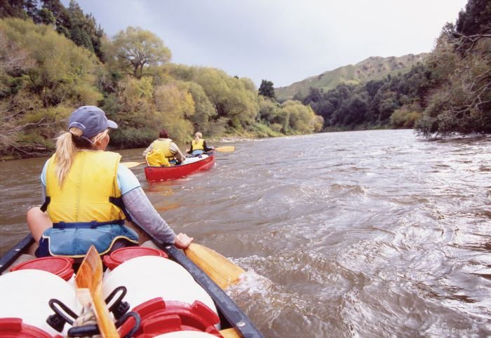Paddling, Whanganui Journey, New Zealand