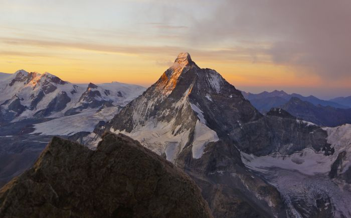 The Matterhorn at sunrise - first 4,000m peak
