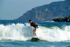 Surfing Big Wave Bay