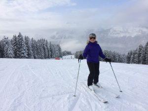 Lara Dunn skiing in Flaine
