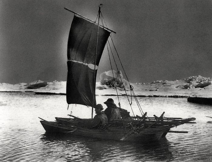 Nansen and Johansen on the Fram expedition