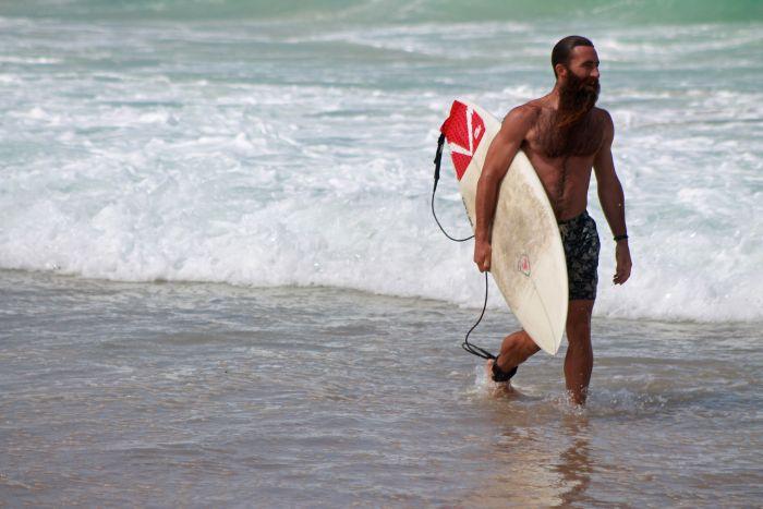 Surfing Bondi Beach, Sydney, Australia