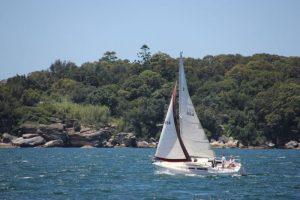 Sailing Sydney harbour