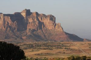 Road from Hawzen to Gheraltra mountains, Tigray Province, Ethiopia