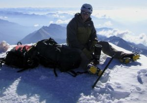 At the top of the Weissmies