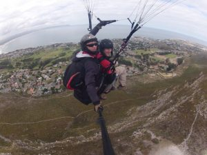 Paragliding over Hermanus