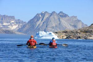 Doug Cooper sea kayaking, Greenland
