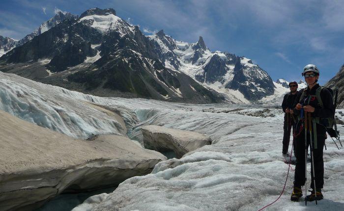 Glacier walking, Mer De Glace, Chamonix