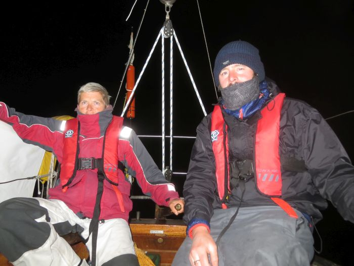 Owain and Lou, members of Sean Conway's crew